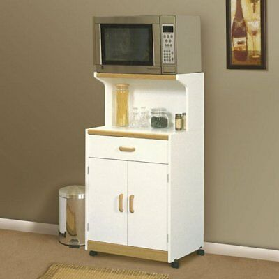 Beginnings Soft White Microwave Cart