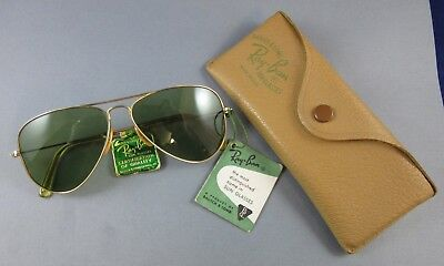 Vintage Bausch & Lomb Ray Ban Sunglasses New Old Stock Original Case Tags