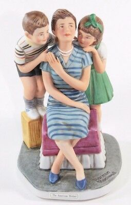 "Norman Rockwell NRG-42 American Mother 1982 Dave Grossman 6"" Figurine w Box"