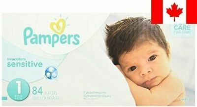 Pampers Swaddlers SENSITIVE Diapers Size 1, Super Pack, 84 Count