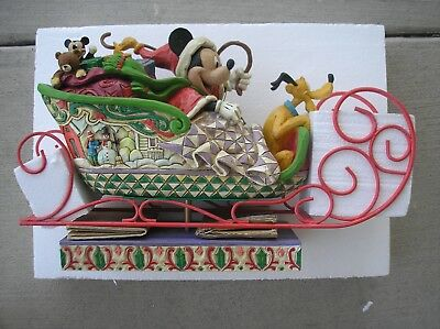 DISNEY Traditions LAUGHING ALL THE WAY Christmas Display Holiday Figure #4005626