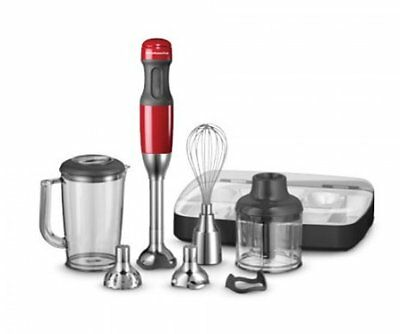 NEW KitchenAid Deluxe Hand Blender - Empire Red