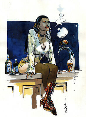 R.M. Guera SCALPED DELUXE HARDCOVER v4 Cover Painting Original Published Art