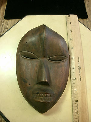 "African Dan tribe Mask from Ivory Coast  Africa 8"" x 5"" x 2"""