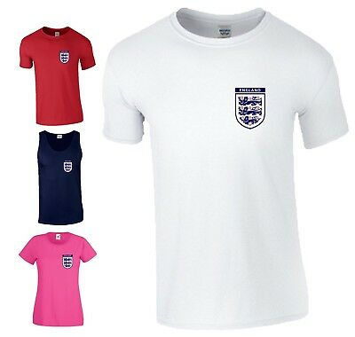 England Football World Cup 2018 T-Shirt Tanks Three Lions Unofficial Mens Ladies