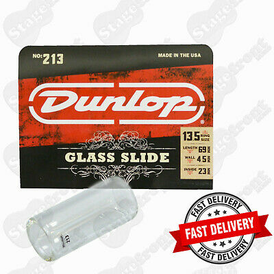 Jim Dunlop J213 Heavy Pyrex Glass Guitar Slide. Top Choice For Many Players