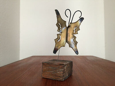 Butterfly Torch Sculpture Vintage Mid Century Modern Hollywood Regency Jere Era