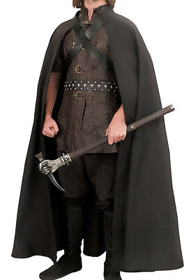 "Rangers Cape, Larp, 56"", Leather,  Adjustable, GOT, LOTR, Cosplay, Medieval"