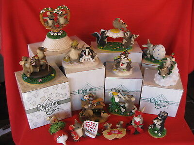 CHARMING TAILS FITZ AND FLOYD LOT OF 14 DIFFERENT FIGURINES (lot7)