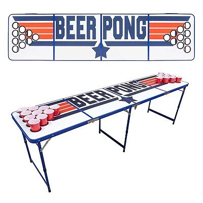 FOLDING BEER PONG TABLE - TOP GUN | Cup Holders Drinking Game New Years Eve