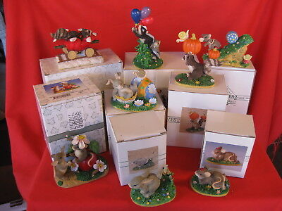 CHARMING TAILS FITZ AND FLOYD LOT OF 8 DIFFERENT FIGURINES (lot5)