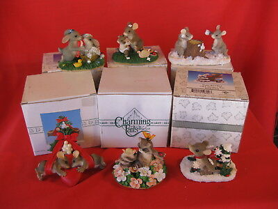 CHARMING TAILS FITZ AND FLOYD LOT OF 6 DIFFERENT FIGURINES (lot3)