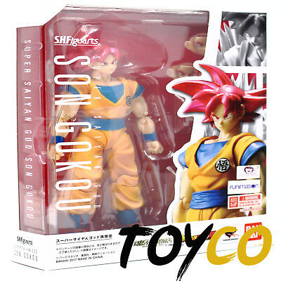 US SH Figuarts Super Saiyan God Son Goku DragonBall Z Action Figure Tamashii