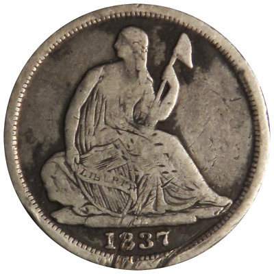 1837 5c Silver Seated Liberty Half Dime