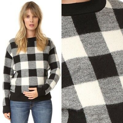 HATCH Collection Louisa Buffalo Check Maternity Sweater O/S