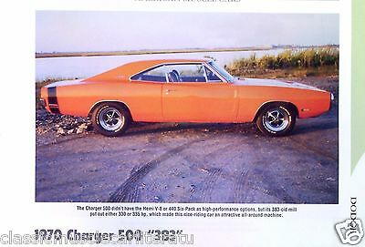 1970 Dodge Charger 500 383 ci Info/Specs/photo/prices 11x8
