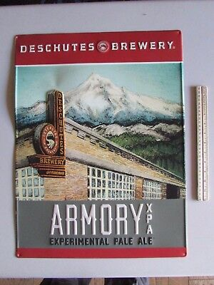 NEW Deschutes Brewery Armory XPA Pale Ale Beer Tin Tacker Sign Bar ManCave Craft