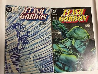 FLASH GORDON Lot of 2 DC Comic Books - #6 And #7, 1988