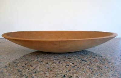 1910-1920 MUNISING Maple Elongated Trencher Bread Dough Bowl / Notched Handles