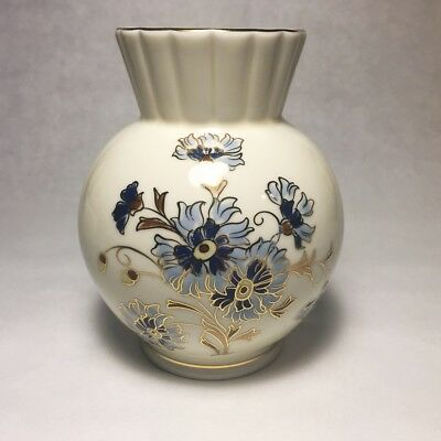 Zsolnay Hungary 1868 PECS, Small Porcelain Vase, Hand Painted, Collectable