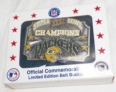 Green Bay Packers Commerative Numbered Siskiyou Belt Buckle Unworn In Box   -A3