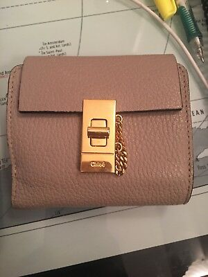 88fe7600 NEW WITH TAG Chloe Drew Textured Leather Continental Wallet Gray ...