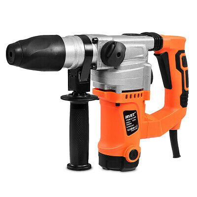 "Electric Rotary Hammer Drill 1"" SDS Three Function Combo 1000W w/Chisel Kit New"