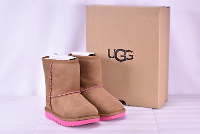 Toddler Girl's Ugg  1017703T/CPAL Classic II Boots Chestnut/Pink Azaela