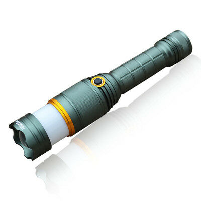 Outdoor Rechargeable T6 LED 3 Mode Zoom Flashlight Torch Lamp Warning Light Tool