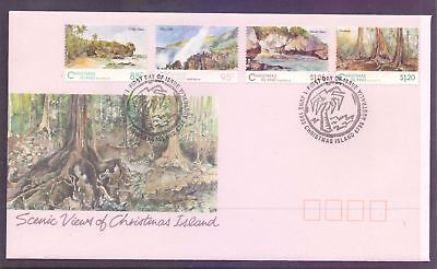 Christmas Island  1993  FDC, Scenic Views.