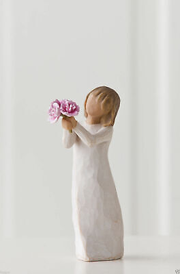 Thank You Girl with Flowers  Willow Tree Figurine By Susan Lordi  27267