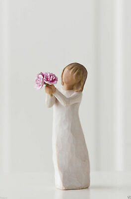 Willow Tree Figurine Thank You Girl with Flowers By Susan Lordi  27267