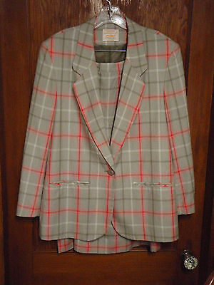 New Pendleton Suit Woman's Size 12 NOS New w/ Tags Matched Jacket & Skirt Plaid