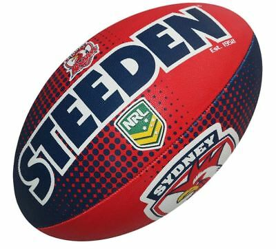 Sydney Roosters Rugby League Ball Full Size 5 NRL Football Steeden