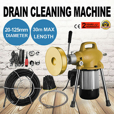 3/4''-5'' Dia Sectional Pipe Drain Cleaning Machine Set Snake Cleaner Plumbing