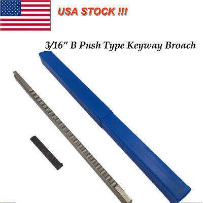 "US Ship !! B Type 3/16"" Inch Size Keyway Cutting  Broach Cutter CNC Metalworking"