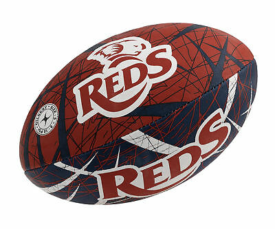 Queensland Reds Gilbert Supporter Rugby Union Ball Full Size w Hand Pump