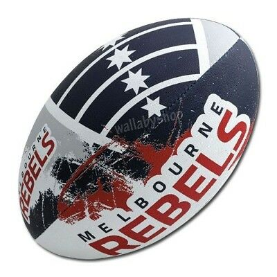 Melbourne Rebels Gilbert Supporter Rugby Union Ball Full Size w Hand Pump