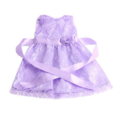 """Lace Dress w/ Rose Party Clothes Outfit for 18"""" American Girl My Life Dolls"""