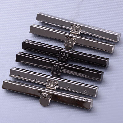 2pcs Purse Wallet Frame Bar Edge Strip Clasp 11.5cm Metal Openable Edge Replace