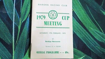 Marong Cup race book 1979 - Amarla wins first start /Gathering Gold wins Cup