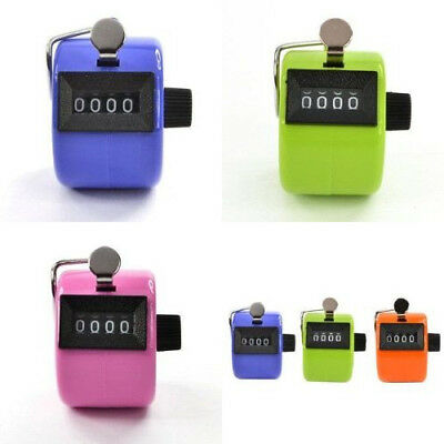 4 Digit Number Counter Mechanical Tally Lap Tracker Manual Clicker For Sports