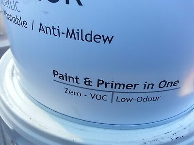 Premium 5 Litre Interior Flat & Primer-Sealer-Undercoat White Colour Paint