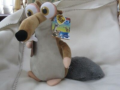 """Large 13"""" Scrat The Rat Ice Age Collision Course Plush Soft Toy New With Tag"""