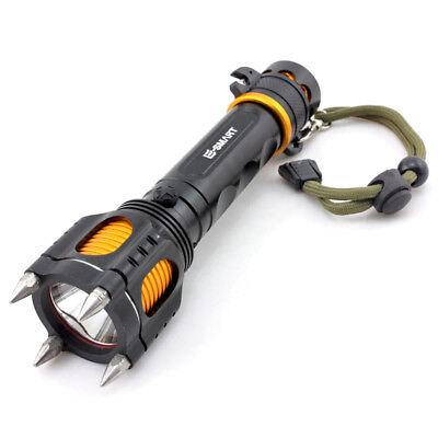 Outdoor Emergancy Self Defense Attack LED Flashlight Chargeable Torch Light