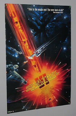 1991 Star Trek Undiscovered Country 39 1/2 by 27 inch movie poster:Mr Spock/Kirk