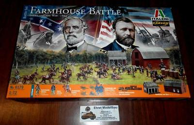 American Civil War Farmhouse battle 1864 Dio + 134   Figuren 1:72 Italeri 6179