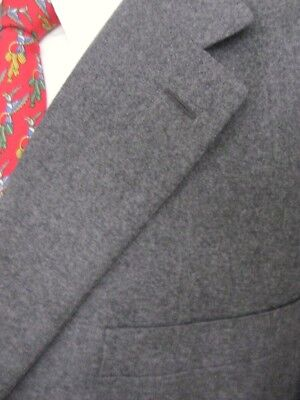Sz 50L Isaia Napoli Tailored Wool Cashmere Surgeon Cuff 3 Button Canvassed Suit