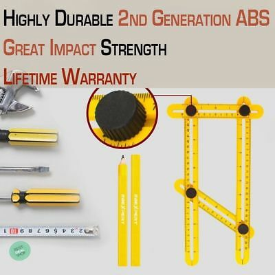 Angle Finder Tool Woodworking Protractor Ruler Multi-Angle Measuring Rulers
