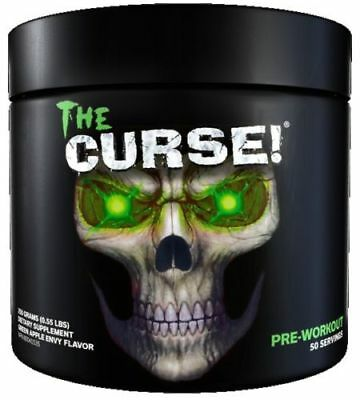 Cobra Labs The Curse Pre Workout 50 Servings Strong Energy Drink Green Apple